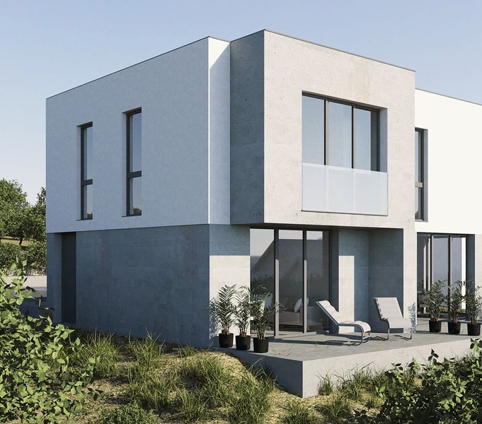 New modern house with 75m2 beautifull flat with 2 bedrooms , 2 bathrooms , pool, holiday rental in Stara Novalja