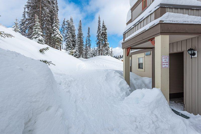 Ski-in / Ski-out justo afuera de su puerta principal