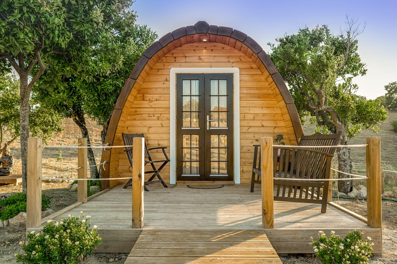 The Gold Pod, relax and enjoy on a Eco Glamping wood house, Ferienwohnung in Torres Novas