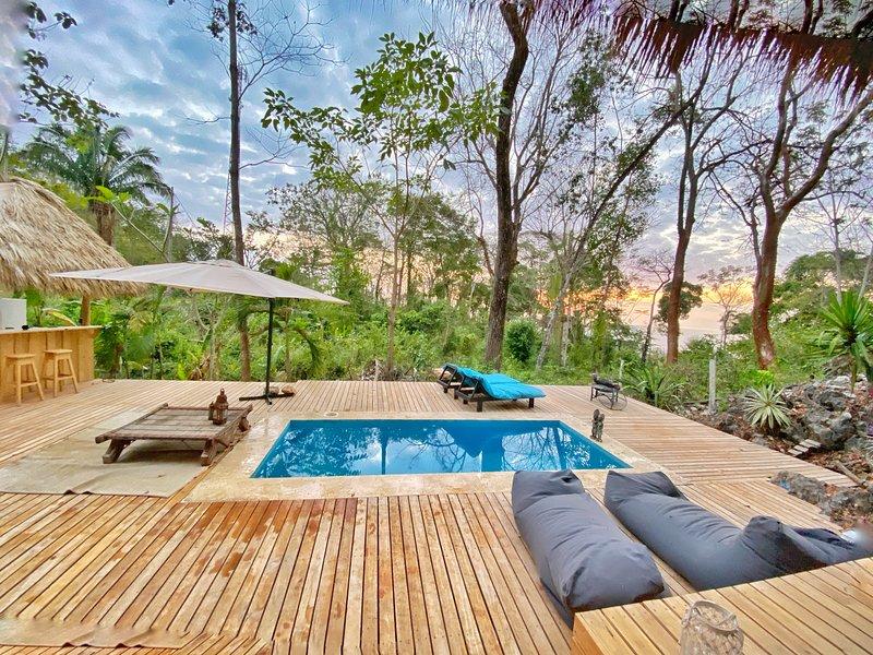 Eco Lodge, entre ocean et Jungle, avec un confort et design, pour une experience, alquiler de vacaciones en Mal País