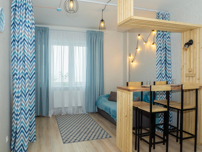 Stylish turquoise with city view, vacation rental in Perm Krai