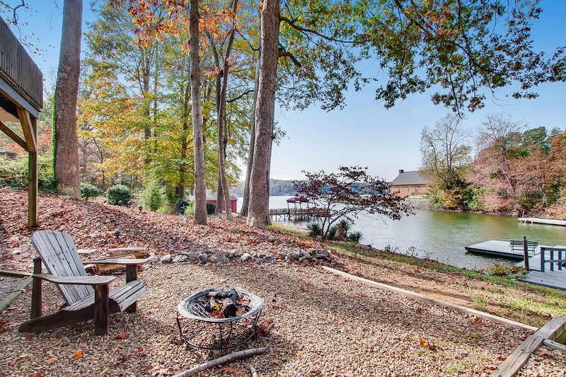 Fire Pit and Lake View