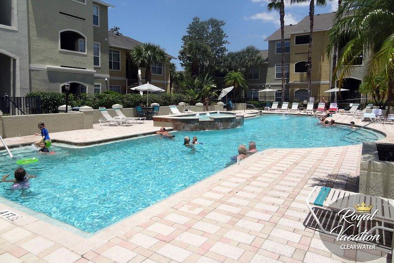 Il sistema geotermico manterrà la temperatura della piscina a 84 Fahrenheit tutto l'anno