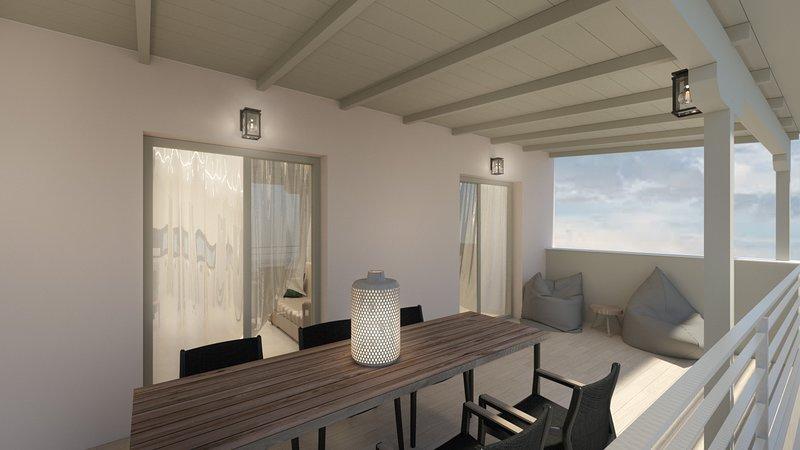 Three Bedroom Grande Suite Sea View-Kallia Suites Chorefto B2, vacation rental in Chorefto