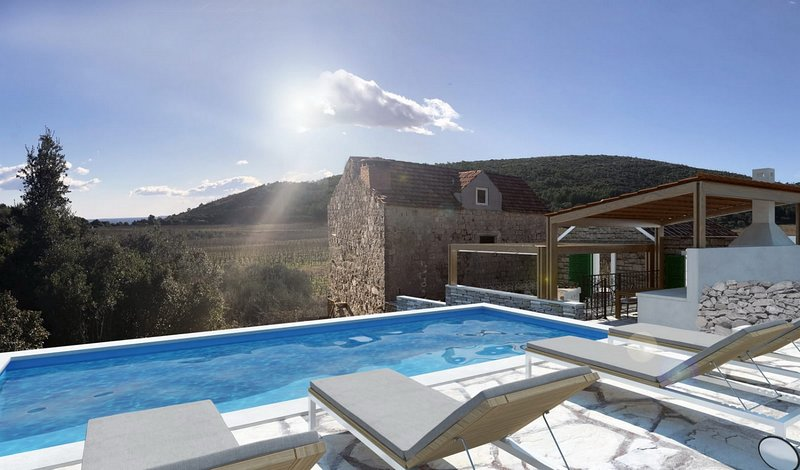 Stone House Prapatna - Two-Bedroom Holiday Home with Swimming Pool, vacation rental in Smokvica
