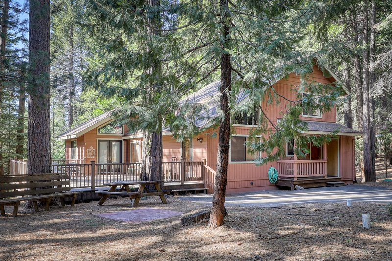 Dog-friendly home w/forest views, walk to Snowshoe Lake - community Rec. Center!, location de vacances à Camp Connell