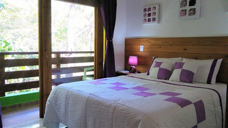 A different way to stay on vacation in Jarabacoa. B&B Mi Hogar, habitación Viole, vacation rental in La Vega Province