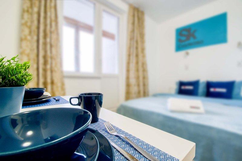 Cozy studio in Skolkovsky | 4D, holiday rental in Dmitrovskoye