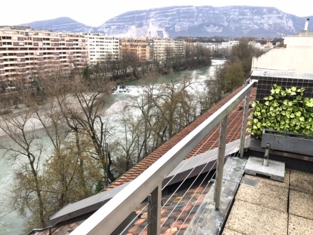 Duplex Attic with Amazing River View, holiday rental in Veyrier