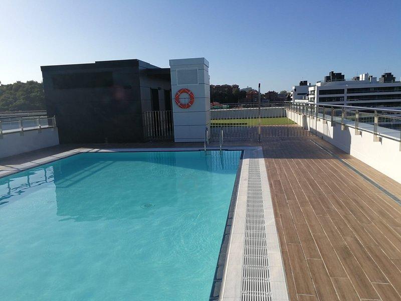 Precioso atico nuevo con puiscina y terraza.Debido al COVID 19 piscina inactiva, casa vacanza a Pasajes