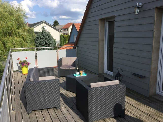 Big apartment with garden & balcony, vacation rental in Meisenthal