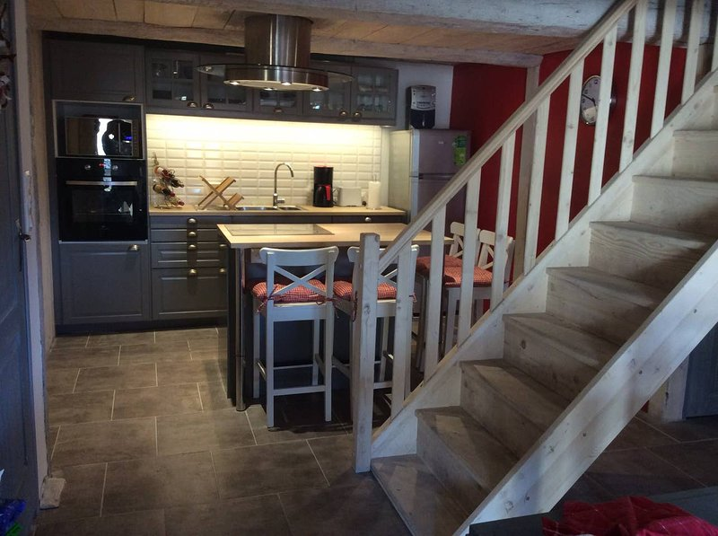 Amazing chalet with terrace, vacation rental in Ascou