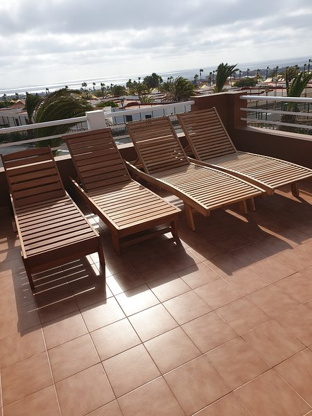 Put your feet up - lounger cushions and towels provided