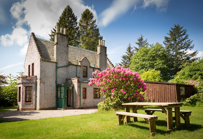 Charming Edwardian lochside lodge house set in woodland grounds, holiday rental in Angus