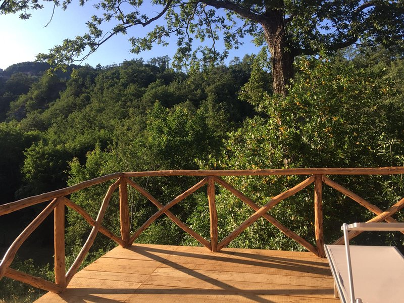 Nice house with balcony, vacation rental in Caprese Michelangelo