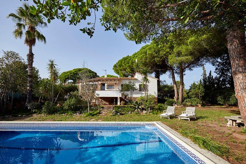 la casa con su piscina y jardin amplio