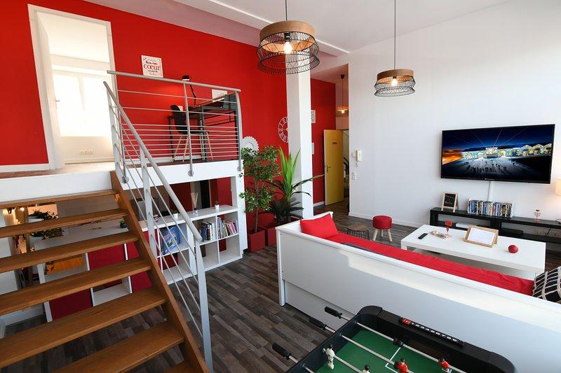 Appart Cozy Brest 3 les capucins (71m2 triplex, free broadband wifi, 200 channel tv)