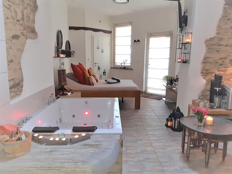 Wellness-Cottage Maifelder Uhlenhorst mit 70 Inklusiv-Leistungen, location de vacances à Munstermaifeld