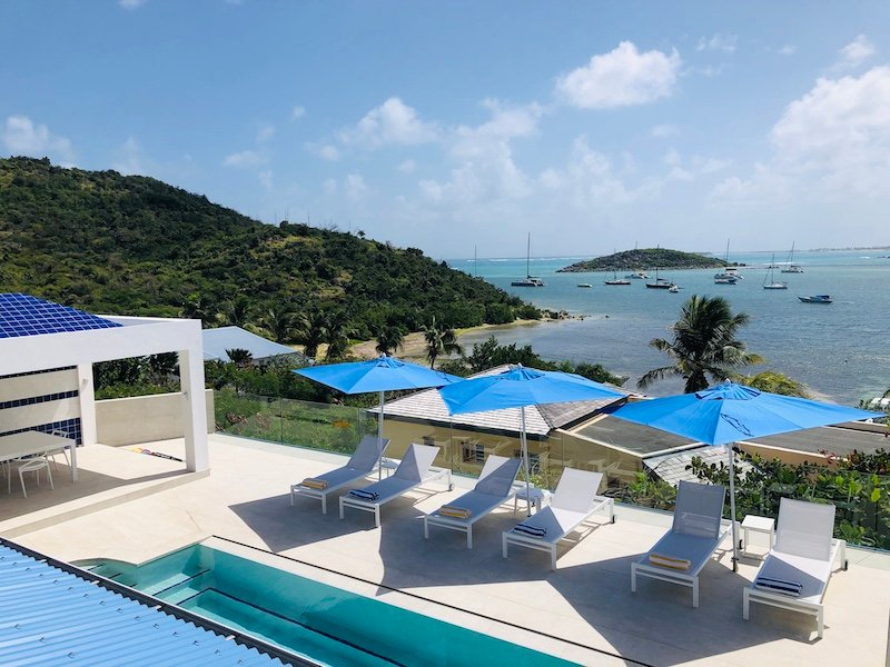 AZUR...4BR located in the French Cul de Sac, facing Pinel Island, St Martin, vacation rental in Cul de Sac