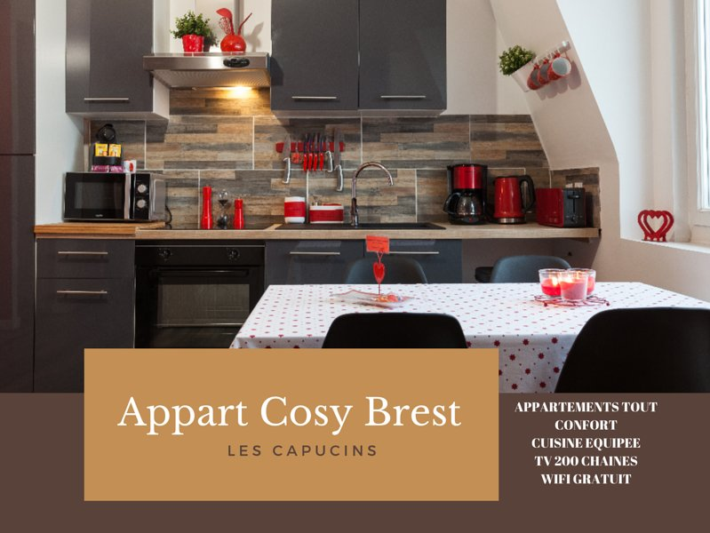 Appart Cosy Brest 4 Vue Mer Has Housekeeping Included And Dvd