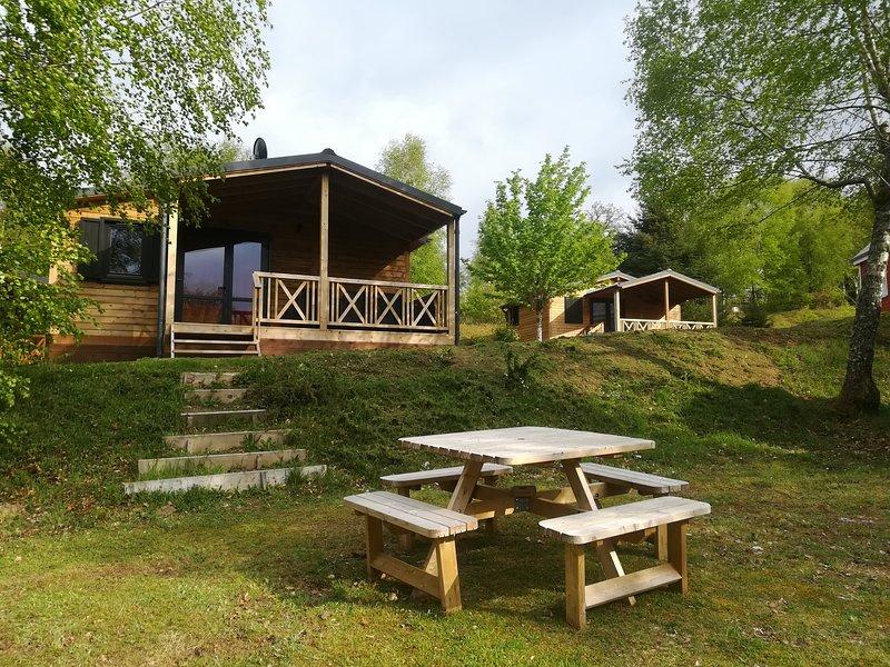 Chalet prestige l'Ours avec grande terrasse, location de vacances à Ménessaire