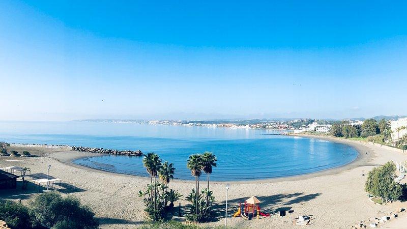 The famous El Cristo beach at nearby Estepona.