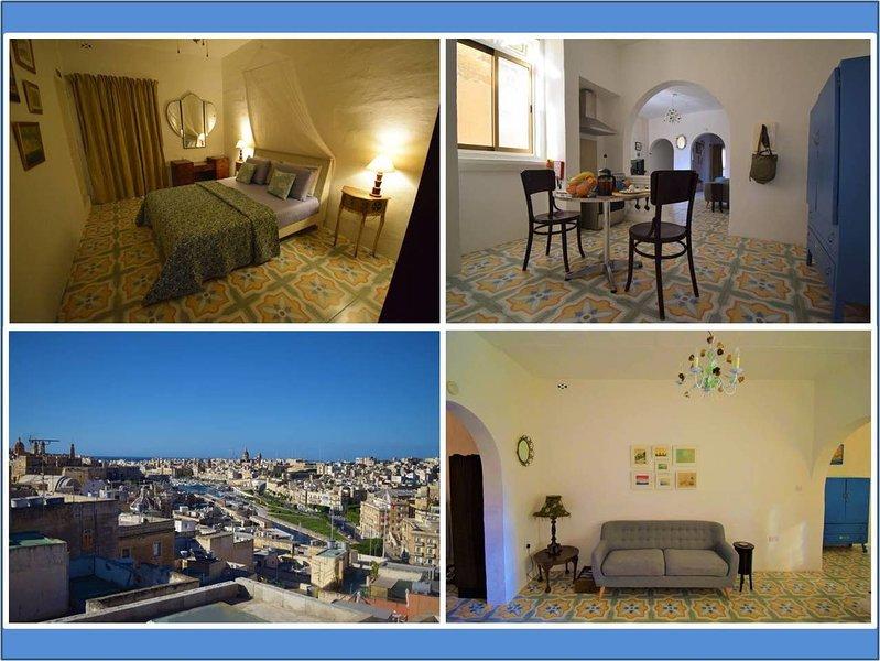 Boutique Maltese apartment - character, views, A/C, casa vacanza a Cospicua (Bormla)
