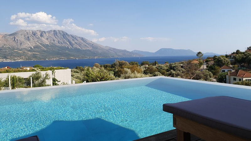 Infinity pool with views over the Ionian sea