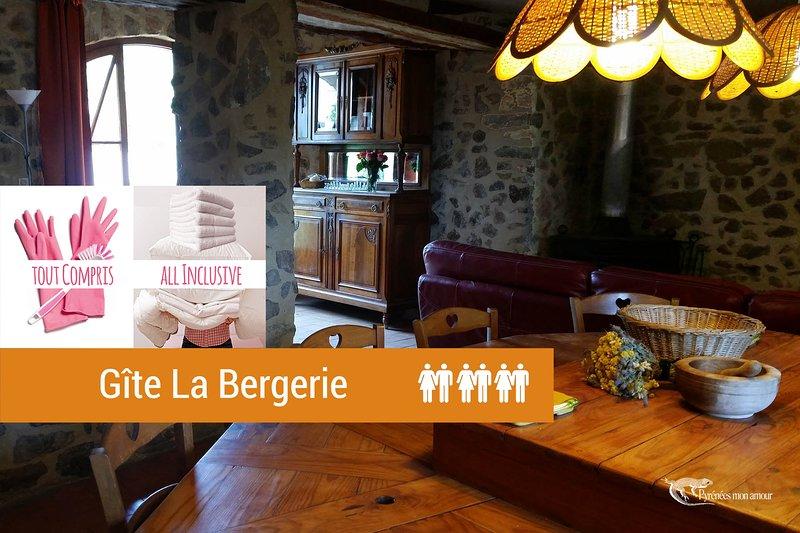 LA BERGERIE 3 épis 'Pyrénées mon Amour', holiday rental in Maury