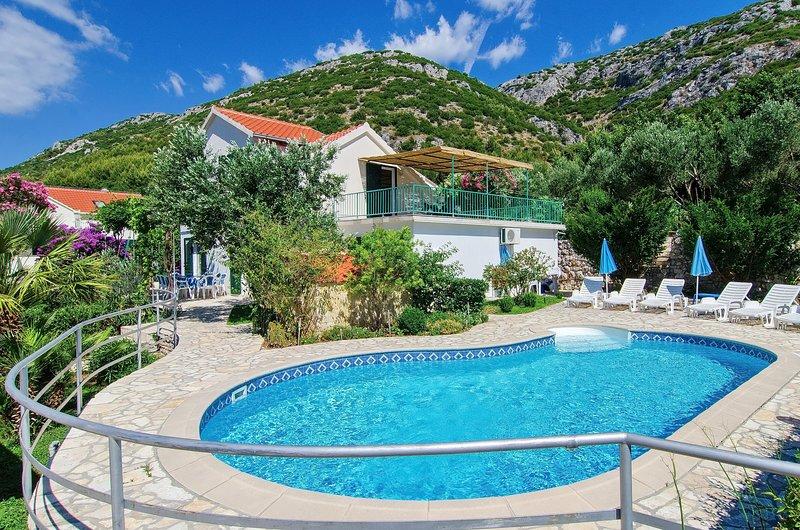 Villa Klara - Holiday Home with Terrace, Pool and Sea View, location de vacances à Viganj