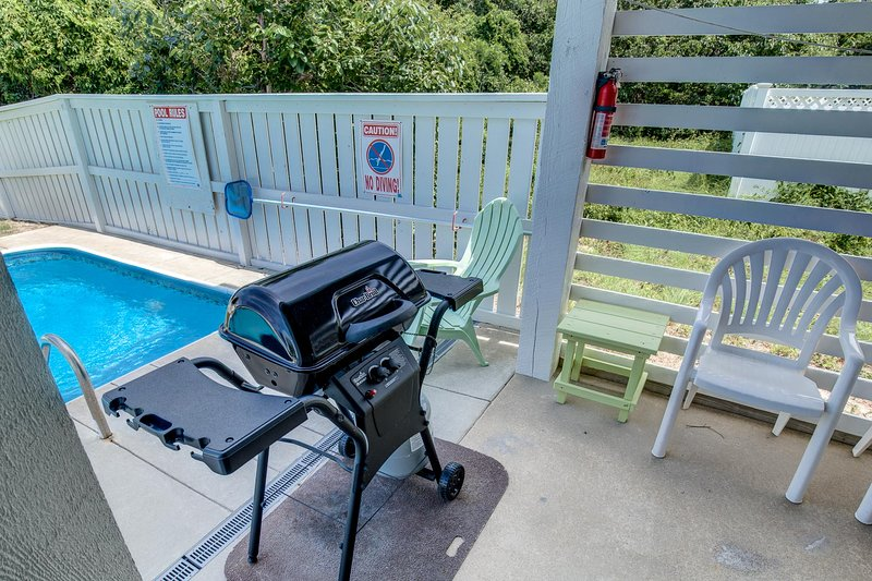 Patio with Gas Grill