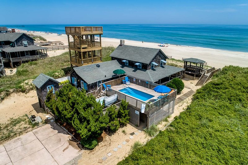 Aerial View of The Beach House
