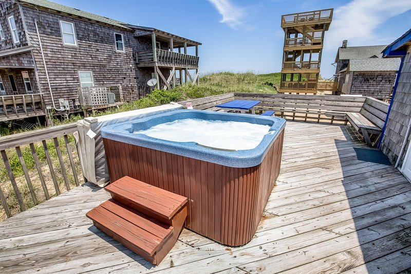 Hot Tub located on Private Deck