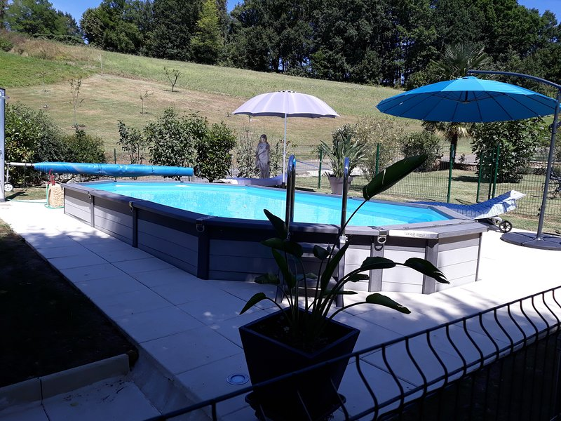 Nice house with swimming-pool, vacation rental in Mouzens