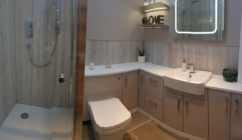 Luxury private ensuite bathroom with shower