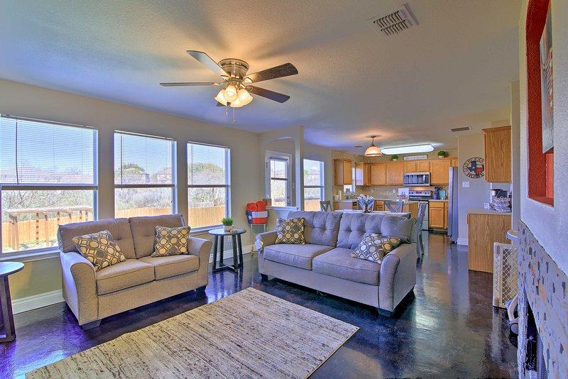 You'll enjoy plenty of natural light inside this San Antonio vacation rental.