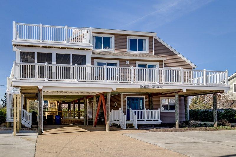 Casa Mi Lo   366 ft from the beach, alquiler de vacaciones en Virginia Beach