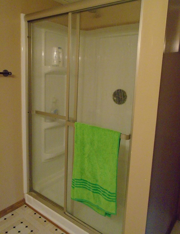 down stairs shower