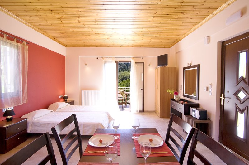 junior suite ibisco Vasiliki Lefkada, vacation rental in Kontarena