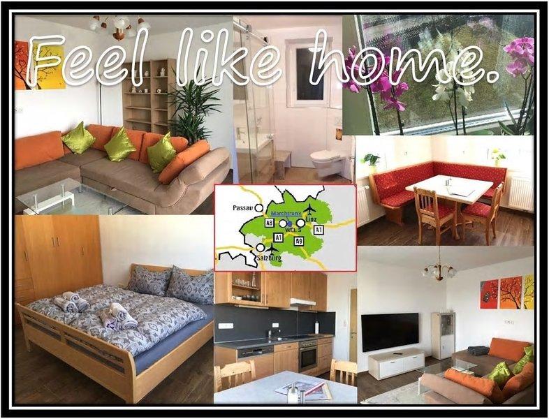 ⭐️ Sehr ruhige 65m² Wohnung | 10min nach Wels | 5min zur Autobahn ⭐️, holiday rental in Schlierbach