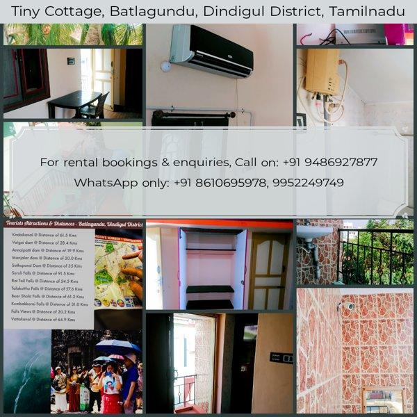 Tiny Cottage Batlagundu ( Vattalagundu ), vakantiewoning in Dindigul District