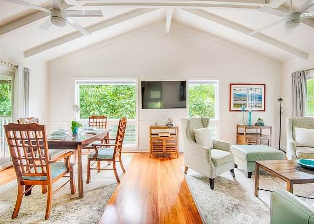 100 Steps to the beach! Beautiful, Upgraded Haena Home.  TVNC#5152, holiday rental in Hanalei