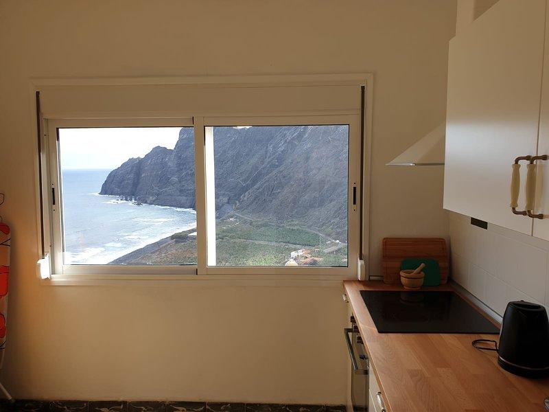 Beautiful apartment with sea view, alquiler de vacaciones en Agulo