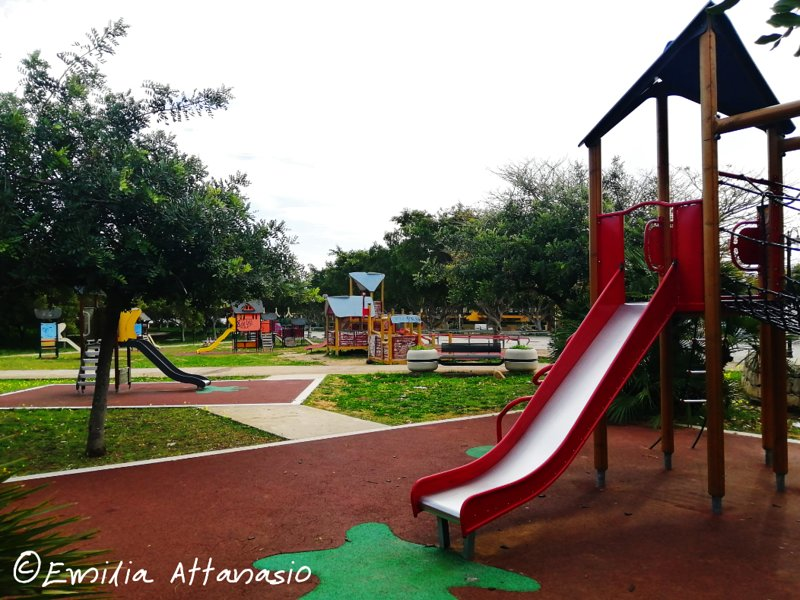 Playground 2 km away, in 'Piazza Padre Pio'