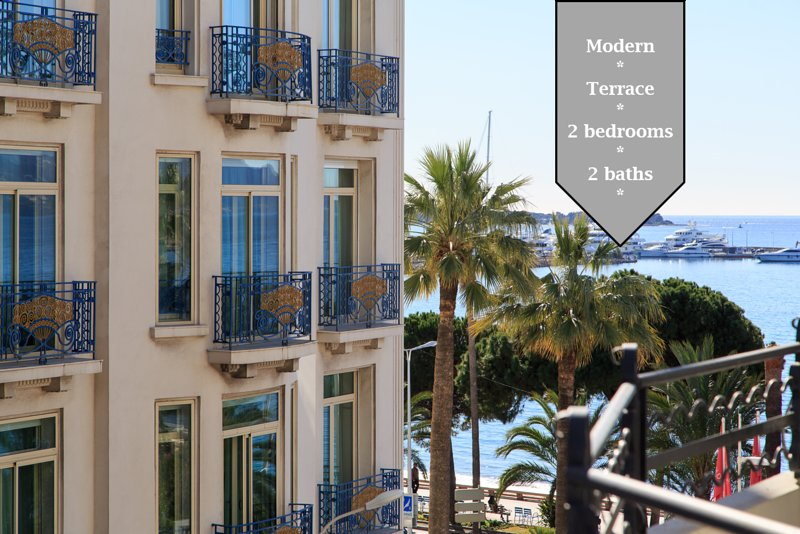 MARTINEZ AREA: NEW 2BEDS/2BATHS, vacation rental in Cannes