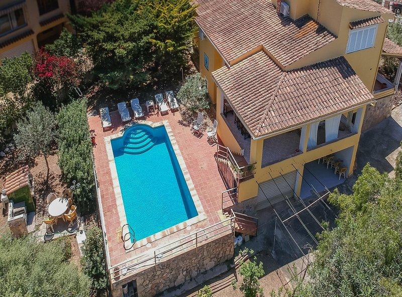 Casa Capitán, piscina privada, wifi, cercana a la playa, alquiler de vacaciones en Palmanova