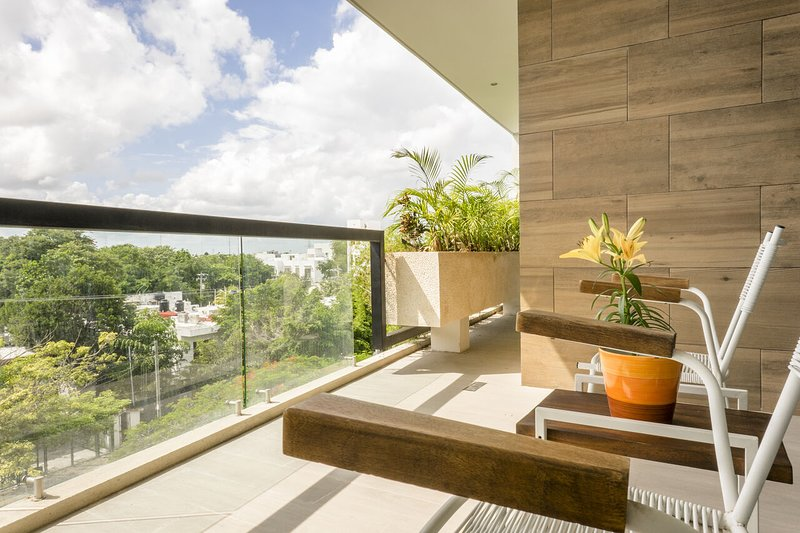 Spacious terrace with access from room and living room