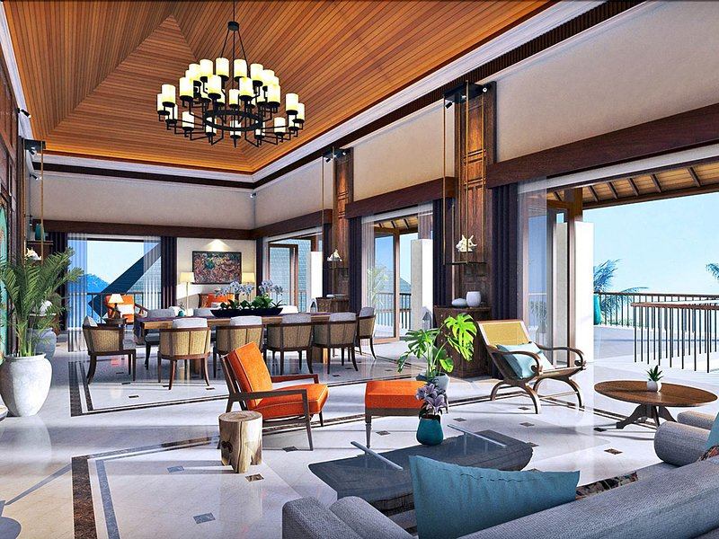 Villa Kailasha - Living and dining area setting