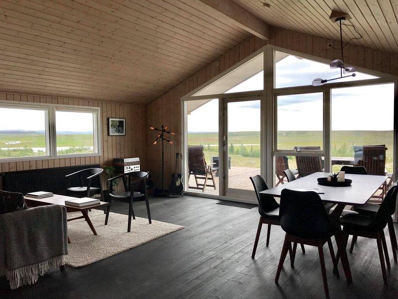 Hilltop Cabin Hekla – semesterbostad i Skalholt