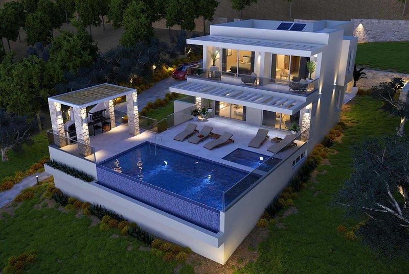 Luxury villa, coastal setting, sea views., holiday rental in Agios Matthaios